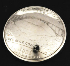 West Virginia State Quarter <Screw Back>
