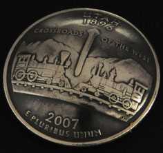 Utah State Quarter Matte Finish <Screw Back>