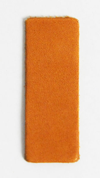 Leather Label (Square Shape L) - Various Color Leather