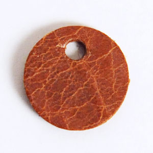 Leather Tag (Round Shape S) - Mostro