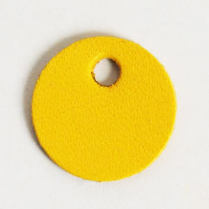 Leather Tag (Round Shape S) - Various Color Leather
