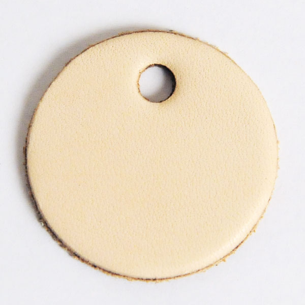 Leather Tag (Round Shape L) - LC Tooling Leather Standard