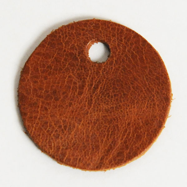 Leather Tag (Round Shape L) - Mostro