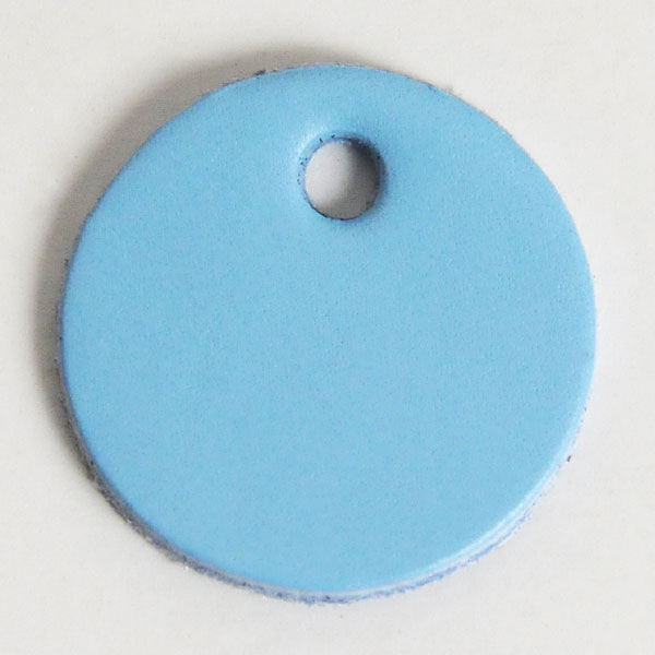 Leather Tag (Round Shape L) - Various Color Leather