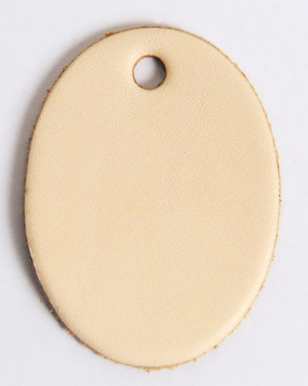 Leather Tag (Oval Shape) - LC Tooling Leather Standard
