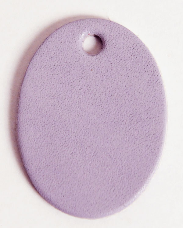 Leather Tag (Oval Shape) - Various Color Leather