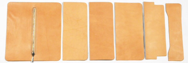 LC Long Wallet Kit - Inner Parts Set 6 pcs - Hermann Oak Leather