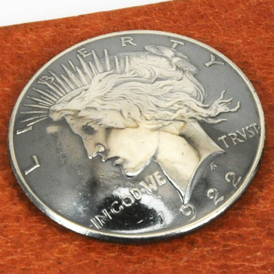 Silver Peace Dollar Matte Finish 1922 - 1927 Circulated (B) <Screw Back>