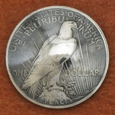 Silver Peace Dollar In Or After 1922 Eagle Matte Finish  VG <Screw Back>