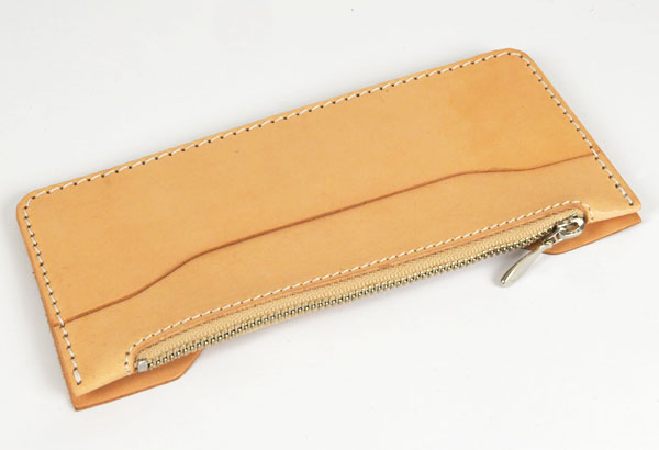 LC M Long Wallet Semi Assembled Inner Parts with Zipper  - Hermann Oak Tooling Leather