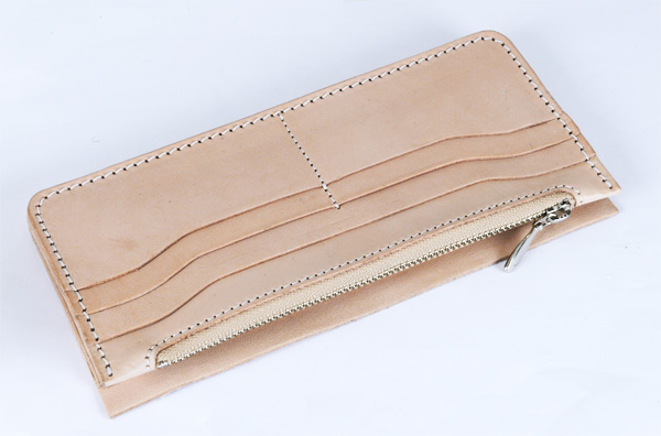 LC Long Wallet Semi Assembled Innter Parts with Zipper - Tooling Leather Himeji